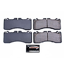 Power Stop® Z23-1440 Front Z23 Daily Carbon-Fiber Ceramic Brake Pads with Stainless-Steel Hardware Kit