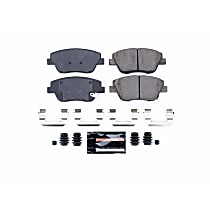Z23-1444 Front Z23 Daily Carbon-Fiber Ceramic Brake Pads with Stainless-Steel Hardware Kit