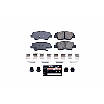 Z23-1445 Rear Z23 Daily Carbon-Fiber Ceramic Brake Pads with Stainless-Steel Hardware Kit