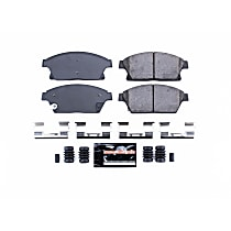 Z23-1467 Front Z23 Daily Carbon-Fiber Ceramic Brake Pads with Stainless-Steel Hardware Kit