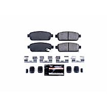 Z23-1468 Rear Z23 Daily Carbon-Fiber Ceramic Brake Pads with Stainless-Steel Hardware Kit