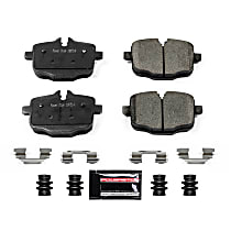 Z23-1469 Rear Z23 Daily Carbon-Fiber Ceramic Brake Pads with Stainless-Steel Hardware Kit