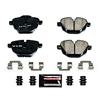 Power Stop® Z23-1473 Rear Z23 Daily Carbon-Fiber Ceramic Brake Pads with Stainless-Steel Hardware Kit