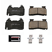 Z23-1474A Front Z23 Daily Carbon-Fiber Ceramic Brake Pads with Stainless-Steel Hardware Kit