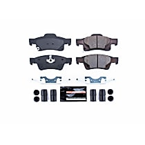 Z23-1498 Rear Z23 Daily Carbon-Fiber Ceramic Brake Pads with Stainless-Steel Hardware Kit