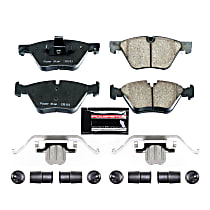 Z23-1504 Front Z23 Daily Carbon-Fiber Ceramic Brake Pads with Stainless-Steel Hardware Kit