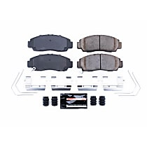 Power Stop® Z23-1506 Front Z23 Daily Carbon-Fiber Ceramic Brake Pads with Stainless-Steel Hardware Kit