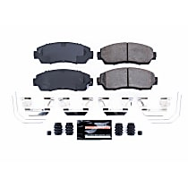 Z23-1521 Front Z23 Daily Carbon-Fiber Ceramic Brake Pads with Stainless-Steel Hardware Kit