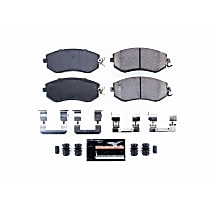 Power Stop® Z23-1539 Front Z23 Daily Carbon-Fiber Ceramic Brake Pads with Stainless-Steel Hardware Kit