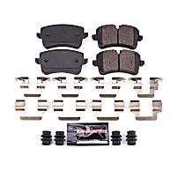 Z23-1547 Rear Z23 Daily Carbon-Fiber Ceramic Brake Pads with Stainless-Steel Hardware Kit