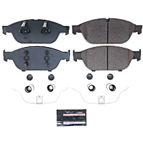 Z23-1549 Front Z23 Daily Carbon-Fiber Ceramic Brake Pads with Stainless-Steel Hardware Kit