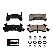 Power Stop® Z23-154 Front OR Rear Z23 Daily Carbon-Fiber Ceramic Brake Pads with Stainless-Steel Hardware Kit