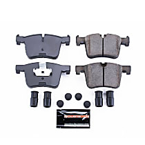 Z23-1561 Front Z23 Daily Carbon-Fiber Ceramic Brake Pads with Stainless-Steel Hardware Kit