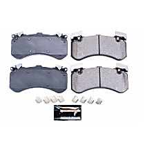 Z23-1575 Front Z23 Daily Carbon-Fiber Ceramic Brake Pads with Stainless-Steel Hardware Kit