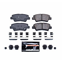 Z23-1594 Rear Z23 Daily Carbon-Fiber Ceramic Brake Pads with Stainless-Steel Hardware Kit