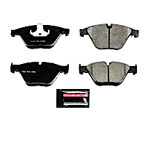 Z23-1597 Front Z23 Daily Carbon-Fiber Ceramic Brake Pads with Stainless-Steel Hardware Kit