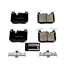 Z23-1609 Front Z23 Daily Carbon-Fiber Ceramic Brake Pads with Stainless-Steel Hardware Kit