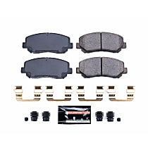 Z23-1623 Front Z23 Daily Carbon-Fiber Ceramic Brake Pads with Stainless-Steel Hardware Kit