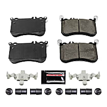 Power Stop® Z23-1634 Front Z23 Daily Carbon-Fiber Ceramic Brake Pads with Stainless-Steel Hardware Kit