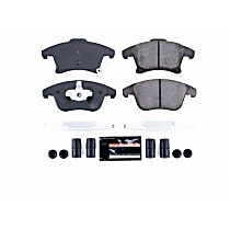 Z23-1653 Front Z23 Daily Carbon-Fiber Ceramic Brake Pads with Stainless-Steel Hardware Kit