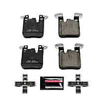Power Stop® Z23-1656 Rear Z23 Daily Carbon-Fiber Ceramic Brake Pads with Stainless-Steel Hardware Kit