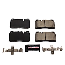 Power Stop® Z23-1663 Front Z23 Daily Carbon-Fiber Ceramic Brake Pads with Stainless-Steel Hardware Kit