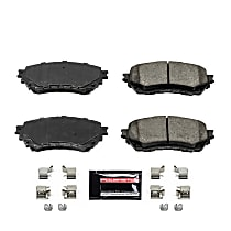 Power Stop® Z23-1711 Front Z23 Daily Carbon-Fiber Ceramic Brake Pads with Stainless-Steel Hardware Kit