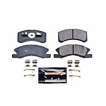 Power Stop® Z23-1731 Front Z23 Daily Carbon-Fiber Ceramic Brake Pads with Stainless-Steel Hardware Kit