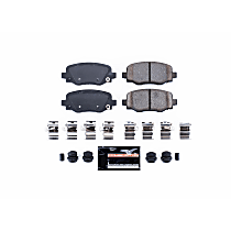 Power Stop® Z23-1734 Rear Z23 Daily Carbon-Fiber Ceramic Brake Pads with Stainless-Steel Hardware Kit