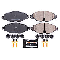 Power Stop® Z23-1760 Front Z23 Daily Carbon-Fiber Ceramic Brake Pads with Stainless-Steel Hardware Kit