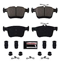 Z23-1761 Rear Z23 Daily Carbon-Fiber Ceramic Brake Pads with Stainless-Steel Hardware Kit