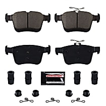 Power Stop® Z23-1761 Rear Z23 Daily Carbon-Fiber Ceramic Brake Pads with Stainless-Steel Hardware Kit