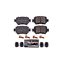 Z23-1779 Rear Z23 Daily Carbon-Fiber Ceramic Brake Pads with Stainless-Steel Hardware Kit