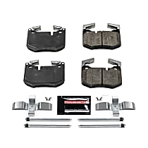 Power Stop® Z23-1807 Rear Z23 Daily Carbon-Fiber Ceramic Brake Pads with Stainless-Steel Hardware Kit