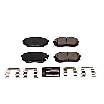 Z23-1826 Front Z23 Daily Carbon-Fiber Ceramic Brake Pads with Stainless-Steel Hardware Kit
