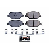 Powerstop Front Brake Pad Set - Z23 Evolution Sport Carbon-Fiber Performance 2-Wheel Set, Carbon Fiber Ceramic