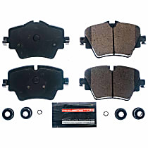 Z23-1892 Front Z23 Daily Carbon-Fiber Ceramic Brake Pads with Stainless-Steel Hardware Kit