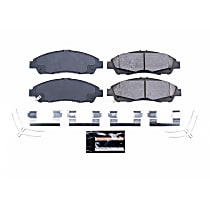 Z23-1896 Front Z23 Daily Carbon-Fiber Ceramic Brake Pads with Stainless-Steel Hardware Kit