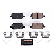Z23-1914 Rear Z23 Daily Carbon-Fiber Ceramic Brake Pads with Stainless-Steel Hardware Kit