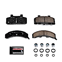 Z23-215 Front Z23 Daily Carbon-Fiber Ceramic Brake Pads with Stainless-Steel Hardware Kit