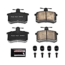 Z23-228 Rear Z23 Daily Carbon-Fiber Ceramic Brake Pads with Stainless-Steel Hardware Kit