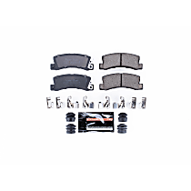 Z23-325 Rear Z23 Daily Carbon-Fiber Ceramic Brake Pads with Stainless-Steel Hardware Kit