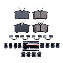 Z23-340A Rear Z23 Daily Carbon-Fiber Ceramic Brake Pads with Stainless-Steel Hardware Kit
