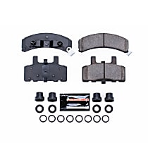 Z23-369 Front Z23 Daily Carbon-Fiber Ceramic Brake Pads with Stainless-Steel Hardware Kit