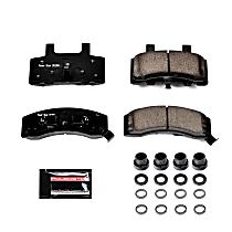 Z23-370 Front Z23 Daily Carbon-Fiber Ceramic Brake Pads with Stainless-Steel Hardware Kit