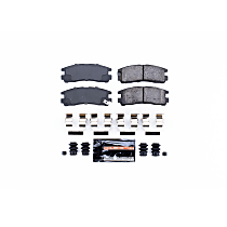 Z23-383 Rear Z23 Daily Carbon-Fiber Ceramic Brake Pads with Stainless-Steel Hardware Kit