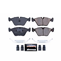 Z23-394 Front Z23 Daily Carbon-Fiber Ceramic Brake Pads with Stainless-Steel Hardware Kit
