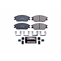 Z23-404 Front Z23 Daily Carbon-Fiber Ceramic Brake Pads with Stainless-Steel Hardware Kit