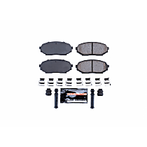 Z23-457 Front Z23 Daily Carbon-Fiber Ceramic Brake Pads with Stainless-Steel Hardware Kit