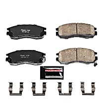 Power Stop® Z23-484 Front Z23 Daily Carbon-Fiber Ceramic Brake Pads with Stainless-Steel Hardware Kit